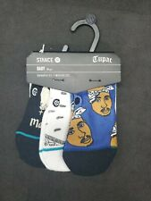 Baby Stance Socks Tupac Socks 3 Pairs New Infant Size 3-6 Months