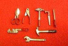 Dolls House Miniature Set of 8 Tools