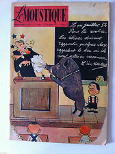 Tv Radio MOUSTIQUE 14/09/1952: couverture Ted Smedley/ Aldo Ray/ Don Camillo