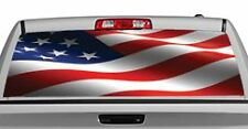 Truck Rear Window Decal Graphic [Patriotic / American Flag Wave] 20x65in DC23701