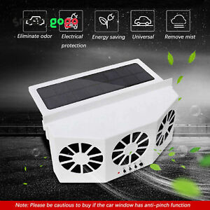 Car Truck Quiet Air Conditioner Solar Cooling Fan Cooler Cycle Exhaust Air BSG