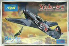 ICM Model kit 1/48 Yak-9T WWII Soviet fighter w/ Extra Parts - 48012 Used