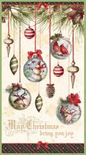 CHRISTMAS WOODLAND HOLIDAY FABRIC PANEL ORNAMENTS WILMINGTON PRITNS NEW BTP