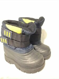 Stride Rite Winter Snow Boots Baby Toddler Girls Boys Size 6 Blue Black Yellow