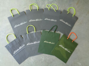 8 New Eddie Bauer Store Shopping Tote Paper Gift Party Bags Clothing