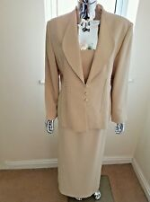Stunning Occasion Suit By Lawrence Collection Petite Stanley Sklar In Cream Size