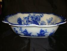 "Antique Doulton Burslem Flow Blue ""Glorie de Dijon"" Wash Stand Basin c1891-1902"