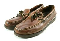 Cabela's Men's Loafers Boat Shoes Size 13 Leather Brown Vibram Soles