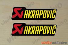 PEGATINA STICKER VINILO MOTO Akrapovic doble 2 ud autocollant aufkleber