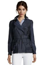 Burberry Brit Trench Coat Jacket Mac Peasdale Black out