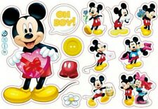 Disney Mickey Mouse Stickers A4 Sheet Childrens Bedroom Cartoon Wall Sticker