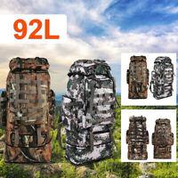 80L 92L Men Women Outdoor Military Tactical Bag Camping Hiking Backpack