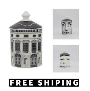 Retro Neuschwanstein Castle Candle Holder Tray Plate Modern Ceramic Home Decor
