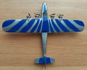 Dinky Airplane Imperial Airliner #60a, Sun Ray Blue and Silver, Very Rare