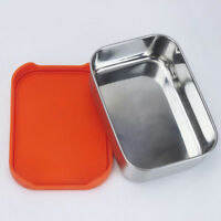 Rectangle Stainless Steel Lunch Box Leakproof Silicone Lid Food Container