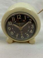 Vintage General Electric 7H160  Electric Alarm Clock Works / Alarm so-so b892