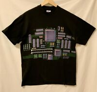 Single Stitch Vintage Tee Shirt Smithsonian CPU 1993 Computer Hanes BeefyT Large