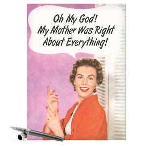 J9943 Jumbo Funny Anniversary Card: 'Mother Was Right' hilarious greeting cards