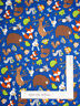 Foest Animal Deer Fox Blue Cotton Fabric Timeless Treasures C5763 By The Yard