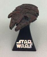 Star Wars Millennium Falcon Stellar Fighter Ship Diecast with Stand 2005 Lucas