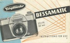 Voigtlander Bessamatic Instruction Manual 1961 with Instructions in Brief