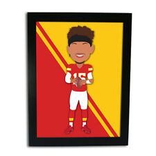 More details for patrick mahomes american football vector hero framed print unofficial