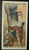Spanish Ferrocarriles Andaluces    Malaga Branch    Vintage Card