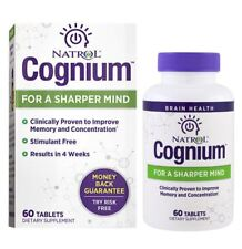 Natrol Cognium Sharper Mind Healthy Memory Supplement Tablets 60 Tablets New