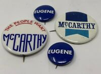 Eugene Mccarthy Pinback Button Lot Of 4 Vintage Original The People Want 18-1324