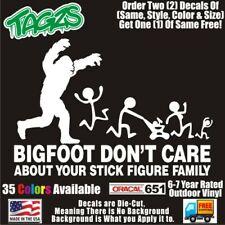 Bigfoot Sasquatch Stick Family V2 Funny Diecut Vinyl Window Decal Sticker Car