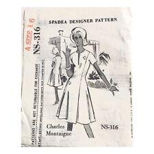 Vintage SPADEA Designer Princess Dress Pattern NS-316 Size 16 CHARLES Montaigne