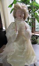 """Vintage 14"""" Kneeling Porcelain  Bride Doll. Goddess Jade Dolls"""