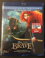 DISNEY PIXAR BRAVE COLLECTORS EDITION(BLU-RAY+DVD) 3-DISC COMBO PACK BRAND NEW