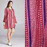 2X NWT VELZERA Plus Red Long Sleeve Top Boho Floral Tunic Blouse Womens 2X-LG
