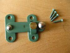 Vintage green door latch/ lock with screws garden shed chicken coop animal hutch