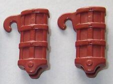 18842, 2x Schwert- Köcher (für Gürtel, Kragen, Gurt), rotbraun