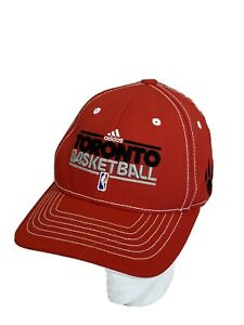 Adidas Toronto Raptors Youth Hat Cap Basketball Flexifit Red White Stretch