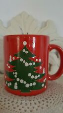 Waechtersbach Red Christmas Holiday Festive Tree Mug West Germany - Replacement