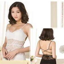 Crop Top Lace Camisole Hollow Out  Vest Bandage Bralet Backless Tank Tops