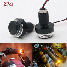 2XMotorcycle Turn Signal LED Light Indicator Blinker Handle Bar End Handlebar