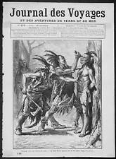 1879 Journal Antique Print North American Indians