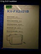 Sony Bedienungsanleitung KV FX2921B Color TV (#2018)