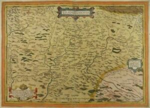 TRANSSILVANIEN SIEBENBÜRGEN RUMÄNIEN KARTE ORTELIUS 1575 Romania Transilvania N