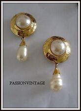 Boucles d'oreilles Yves St laurent Goossens vintage necklace  jewelry earring