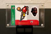 "1998 Upper Deck ""UD Choice"" Michael Jordan Mini Bobbing Head Insert #30 of 30."