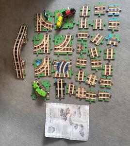 vintage Melissa & Doug Puzzle World Wooden Train track, bridge rail road