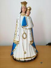 ancienne statue religieuse en plâtre polychrome  Notre-Dame de Bon secours