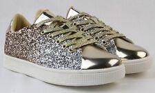 Women Fashion Mix Gradient Glitter Sneakers New Design Tennis Lightweight Shoes