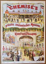 Vintage Fairground Poster ambulatory anatomy  magician conjuring circus bizarre