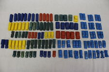 93pc Lot Vintage MPC Colored Plastic Toy Cars, Trucks & Streetcars c.1930s-60s